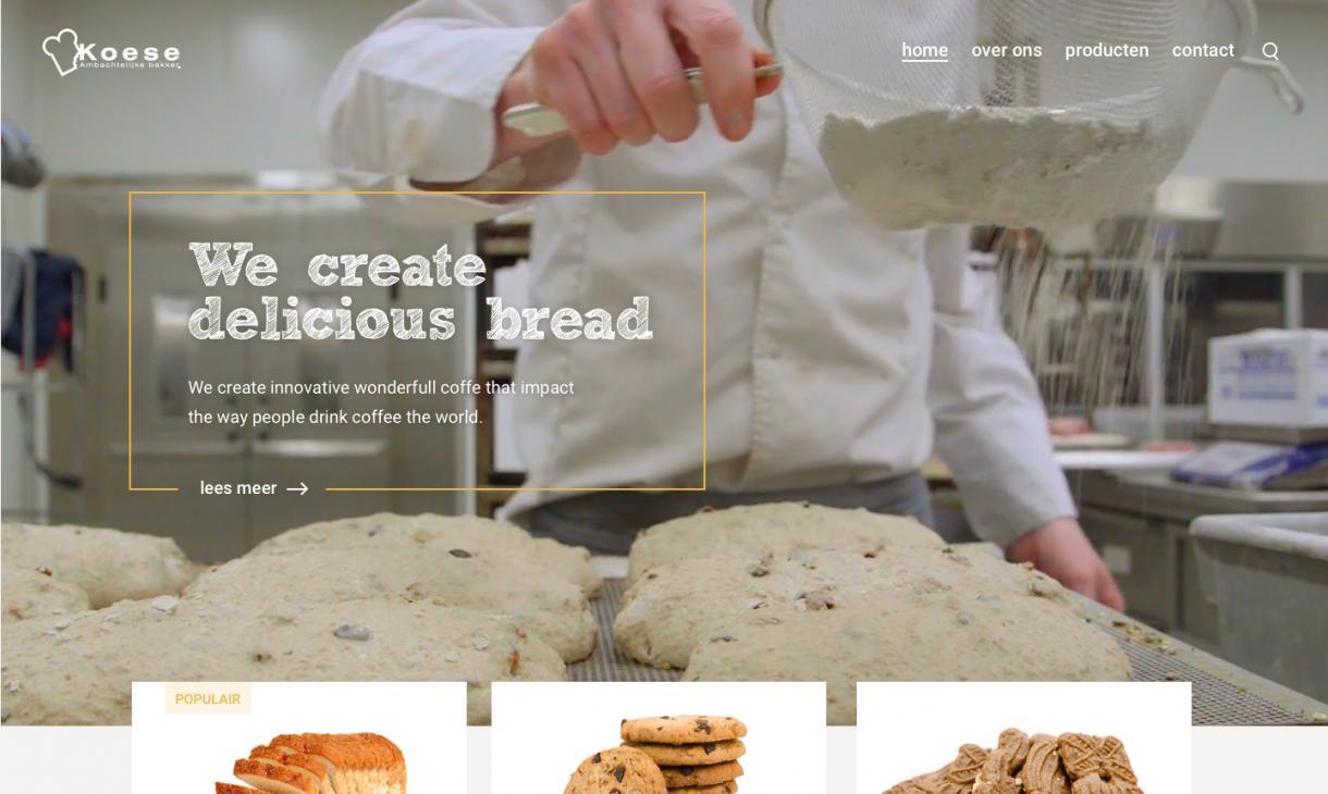 Bakkerij website